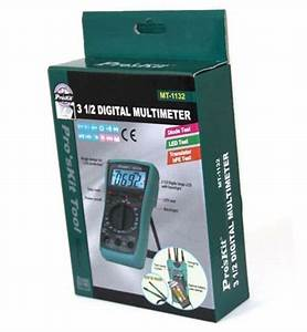 Buy Proskit Mt 2 Manuel Digital Multimeter With