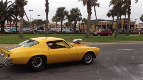 Classic Muscle Cars Leaving Car Show Burnouts Peel Outs