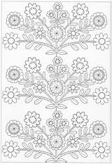 Coloring Pages Scandinavian Flower Embroidery Books Printable Pg Pattern Sheets Visit sketch template