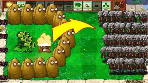 plants vs zombies 1 threepeater vs 9999 giga gagantuar
