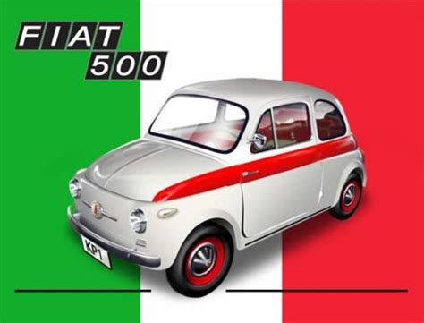 Fiat Sign by 10926 Fiat 500 6 X 8 Vintage Metal Steel Advertising