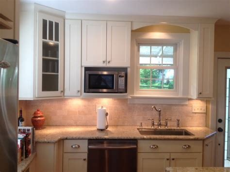 Painted & Cherry Shaker Kitchen Cabinets   CliqStudios