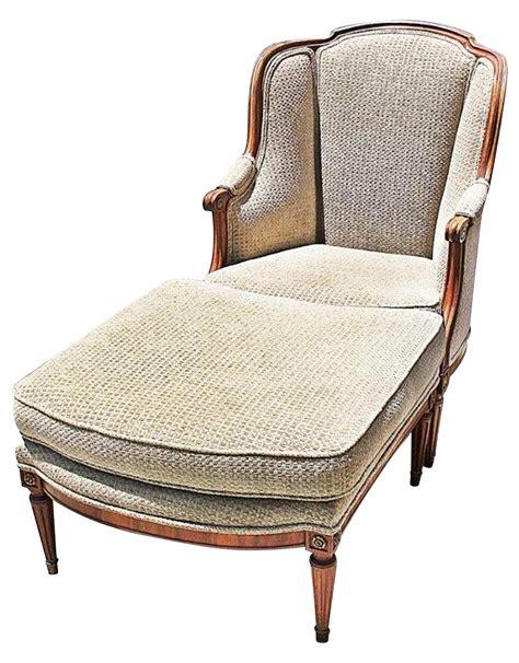 chaise style louis xvi moderne louis xvi style duchesse brisee chaise ottoman a pair chairish