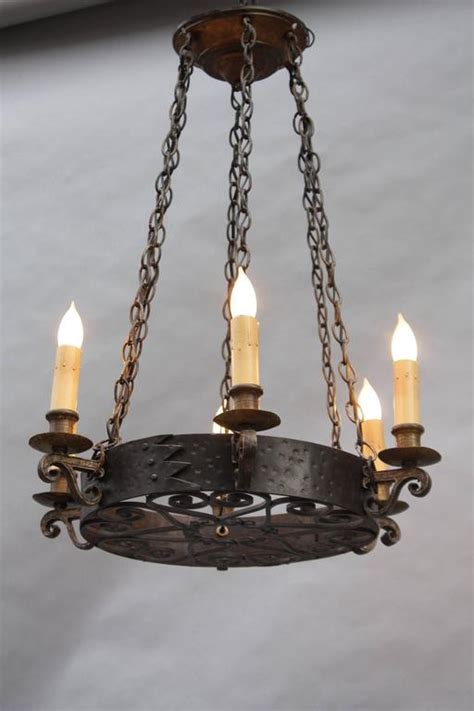 antique wrought iron revival chandelier at 1stdibs