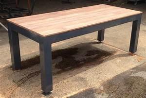 Table De Jardin Bois Et Metal : table de jardin inox et bois ~ Teatrodelosmanantiales.com Idées de Décoration