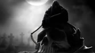 grim-reaper skull weapons scythe graveyard cemetary fantasy death