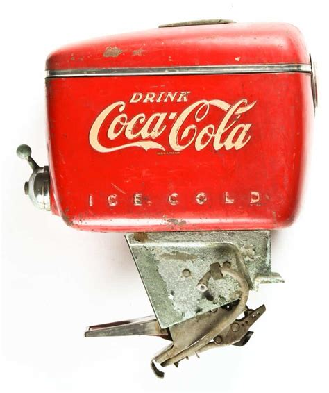 These coca cola dispensers can be used for personal and commercial purposes. Vintage Coca Cola Boat Motor Soda Fountain Dispenser