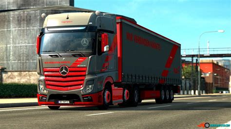mercedes benz  actros loud pipe fixed ets mods