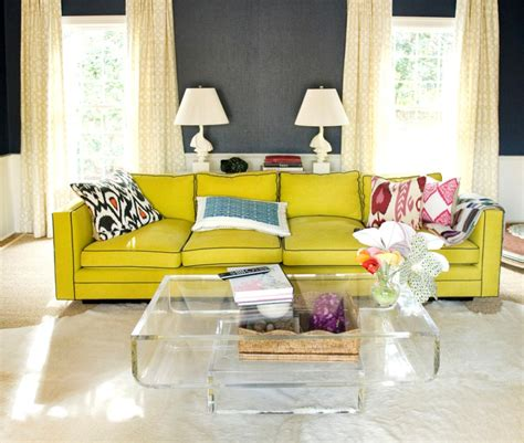 Living Room Yellow Sofa by 30 Design Ideas For Your Eclectic Living Room