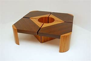 Handmade Bloom Table Set - Wenge/Zebra Wood by Furniture