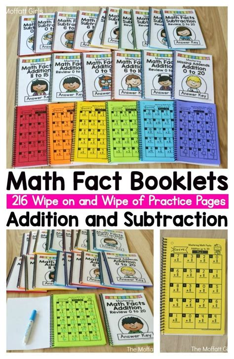math fact booklets for addition and subtraction these