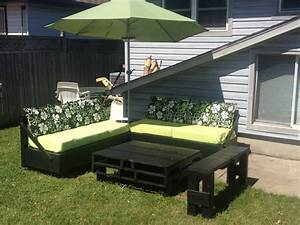 Homemade patio furniture my husband and i made a lot of for Homemade lawn furniture