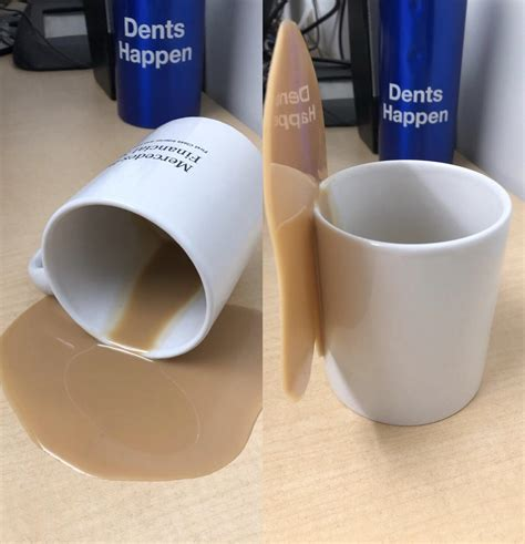 Because they look realistic they will fool anyone! This fake cup of spilled coffee : mildlyinteresting