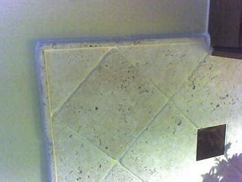 unhappy  exposed edge  tile backsplash ceramic