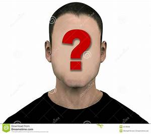 Unknown Man Blank Empty Anonymous Face Royalty Free Stock
