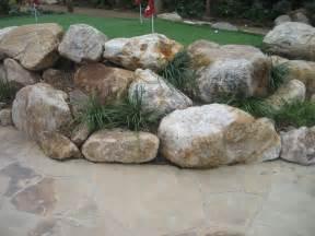 landscape boulders golden granite bourget bros
