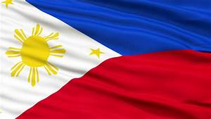 philippines flag up realistic stock footage