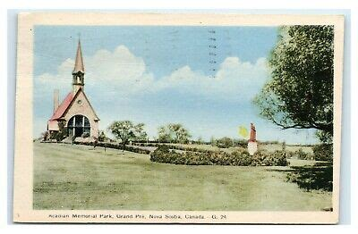 Postcard Acadian Memorial Park Grand Pre Nova Scotia