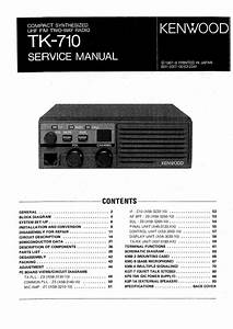 Kenwood Tk-710 Service Manual
