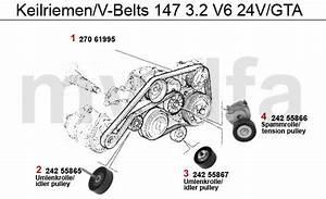 Alfa Romeo 147 Courroies 3 2 V6 24v Gta