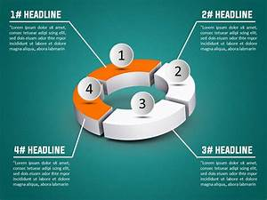 3d Donut Diagram Powerpoint Template