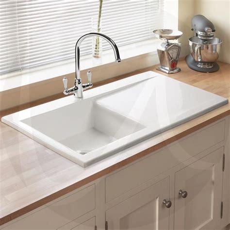 white ceramic 1 5 bowl kitchen sink astini desire 100 1 0 bowl gloss white ceramic kitchen 2041