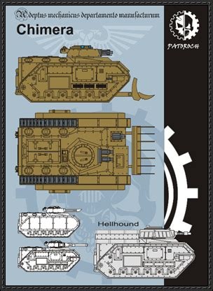 Chimera Template by New Paper Craft Warhammer 40k Chimera Free Paper Model