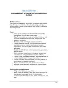 resume description for accounts payable clerk interview bookkeeping accounting and auditing clerk job description template sle form biztree com