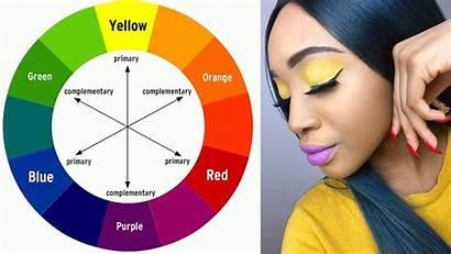 Complementary Wheel Yellow Colors Purple Makeup Challenge