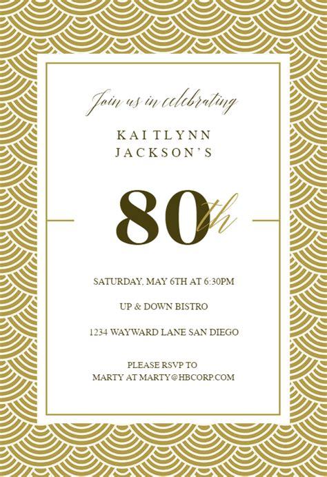 golden birthday birthday invitation template