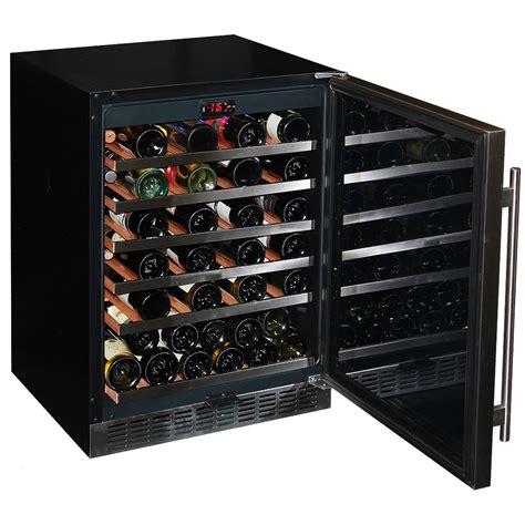 glass door  bench quiet running wine fridge front