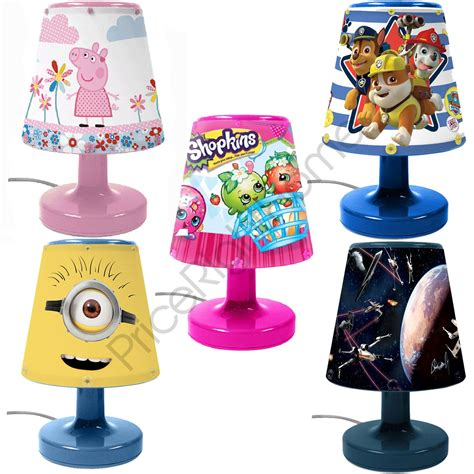 Disney Character Kids Bedroom Bedside Lamps For Boys And