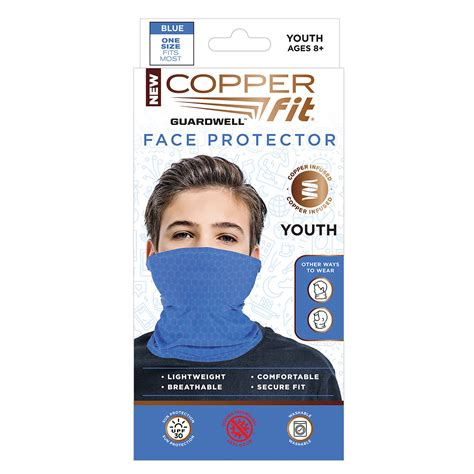 tv copper fit guardwell youth face protector boscovs