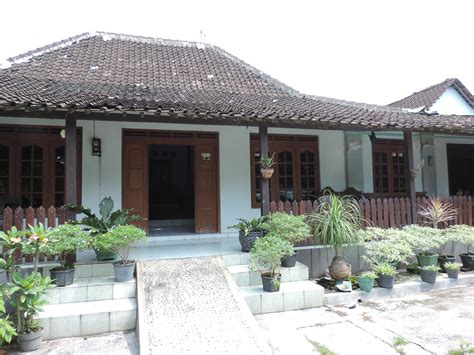 rumah limasan modern joglo traditional house  java