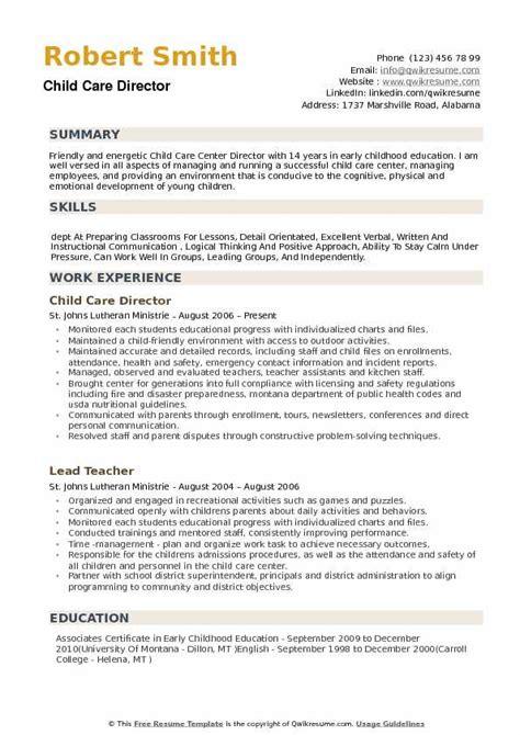 child care director resume samples qwikresume 236 | child care director 1534217625 pdf