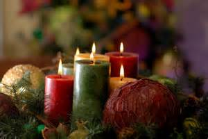 Christmas Table Centerpiece Candles