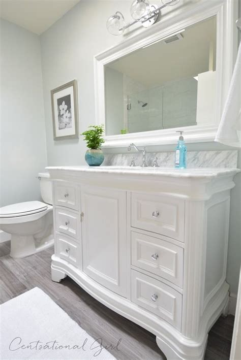 White Vanity Bathroom Ideas by Centsational Bathroom Remodel Uses This Vanity Http