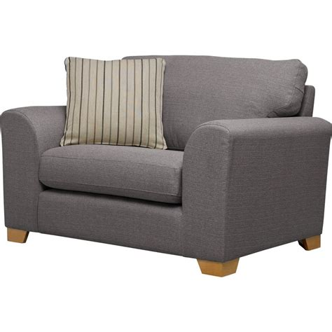 ashdown fabric cuddle chair grey furnico
