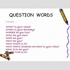 Verb To Be Question Wordspossessive Adjectives