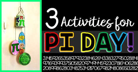3 Pi Day Activities (and 10