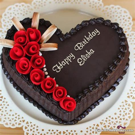 happy birthday elisha cakes cards wishes