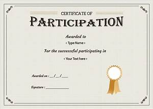 Doc585477 certificate of participation format for Free participation certificate templates for word