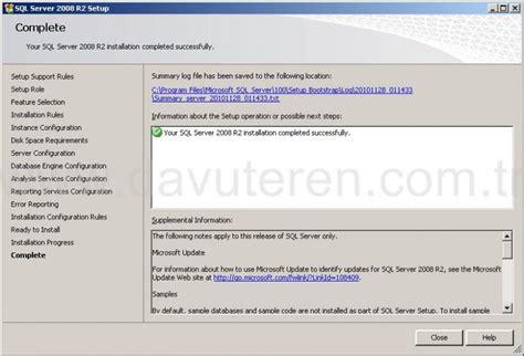 Sql Server 2008 R2 Kurulumu Ve Kurulum Sonrası