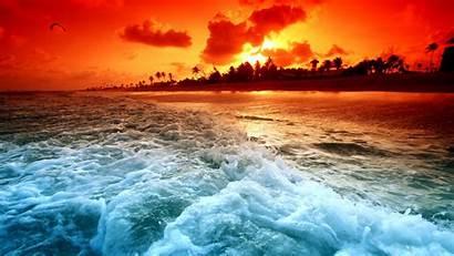 Sunset Desktop Beach Pixelstalk