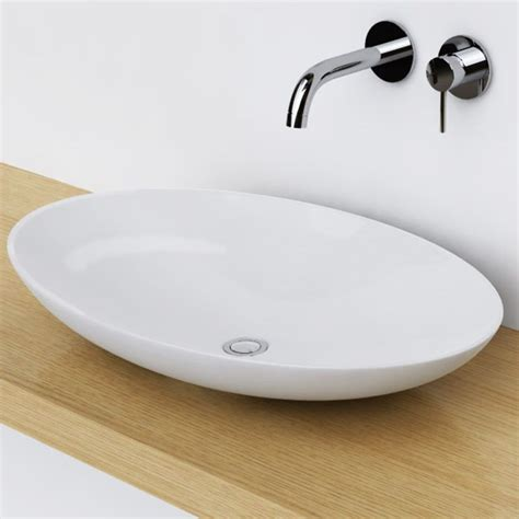 vasque ovale a poser vasque 224 poser ovale 68x43 cm c 233 ramique