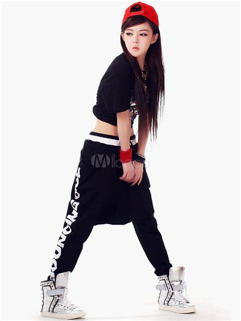 tenue danse moderne fille pantalons de danse hip hop en coton milanoo