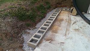 cinder block retaining wall design foundation With building a garden wall with concrete blocks