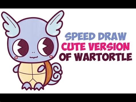 Speed Drawing How to Draw Wartortle Cute from Pokemon Easy