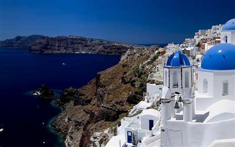 Santorini Greece Hd 1920x1200 Bimagesnet Free