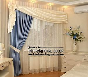 Unique Bedroom Curtain Design Blue White Curtain Unique And Special Curtain Designs For House Interior